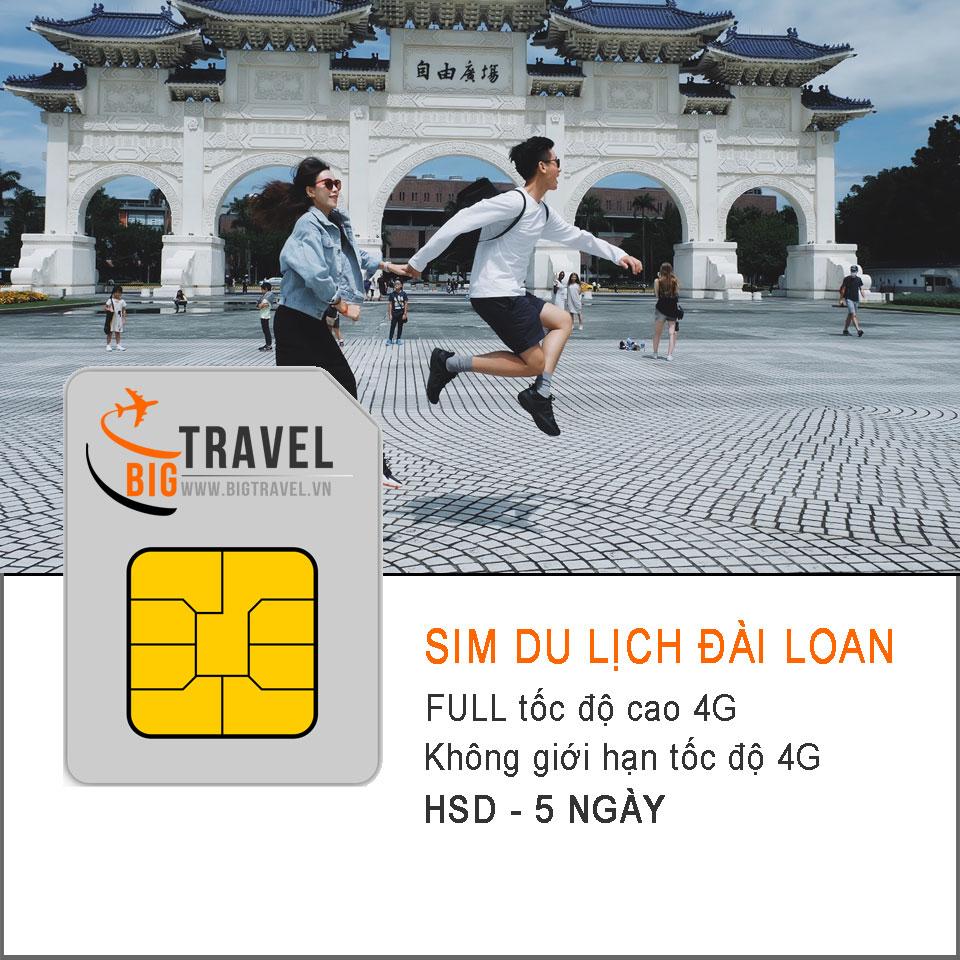 Sim 4G du lịch Đài Loan 5 ngày FULL tốc độ cao 4G - Bigtravel.vn