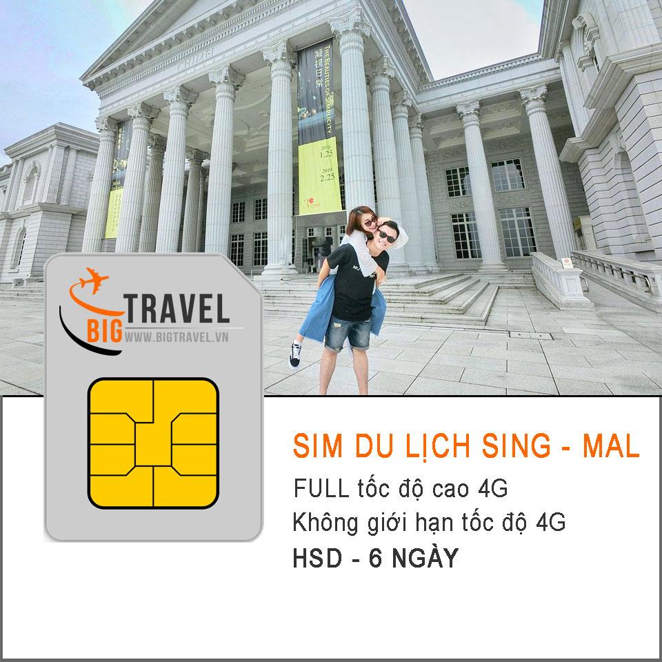 Sim du lịch Singapore - Malaysia 6 ngày FULL tốc độ cao 4G - Bigtravel.vn